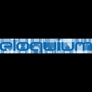 Eloquium Logo in blau und freigestellt