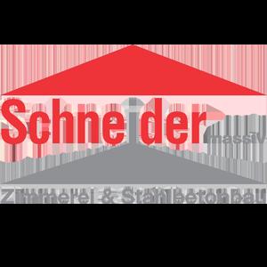 Logo vom Unternehmen Schneider massiv - Zimmerei und Szahlnetonbau