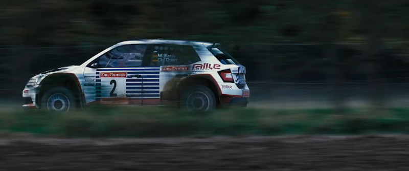 Bild des Rallye-Autos Skoda Fabia R4 von Rallyemeister Matthias Kahle