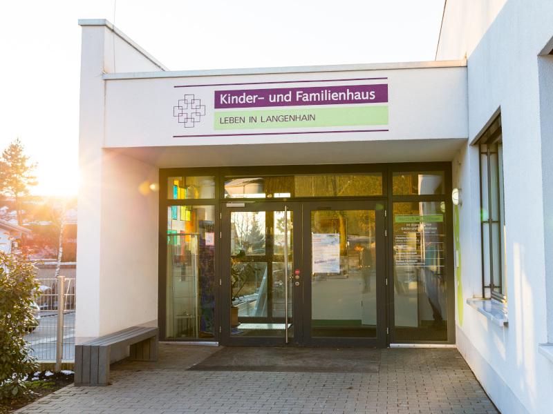Familienhaus Langhain Eingang